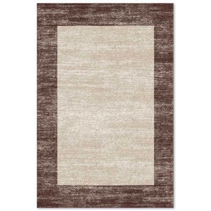 Gran Canaria Frame Area Rug Brown - movaloom