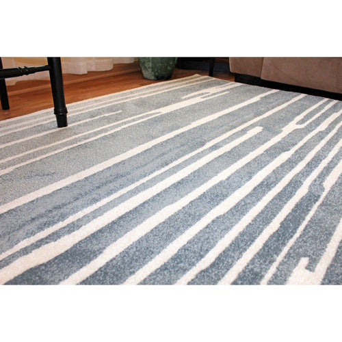 Matrix Modern Blue Area Rug - movaloom