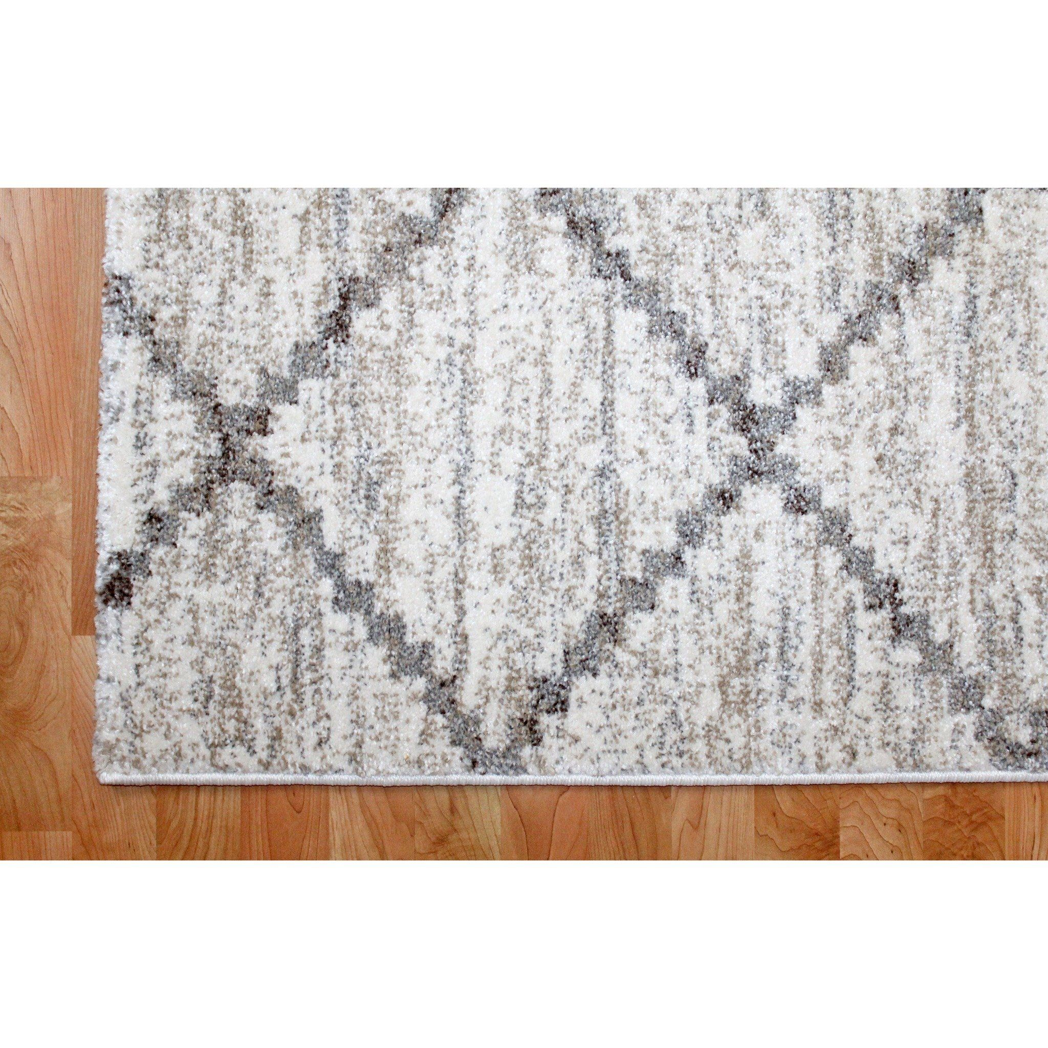Incredible Matrix Sand Diamond Pattern Area Rug Available Online