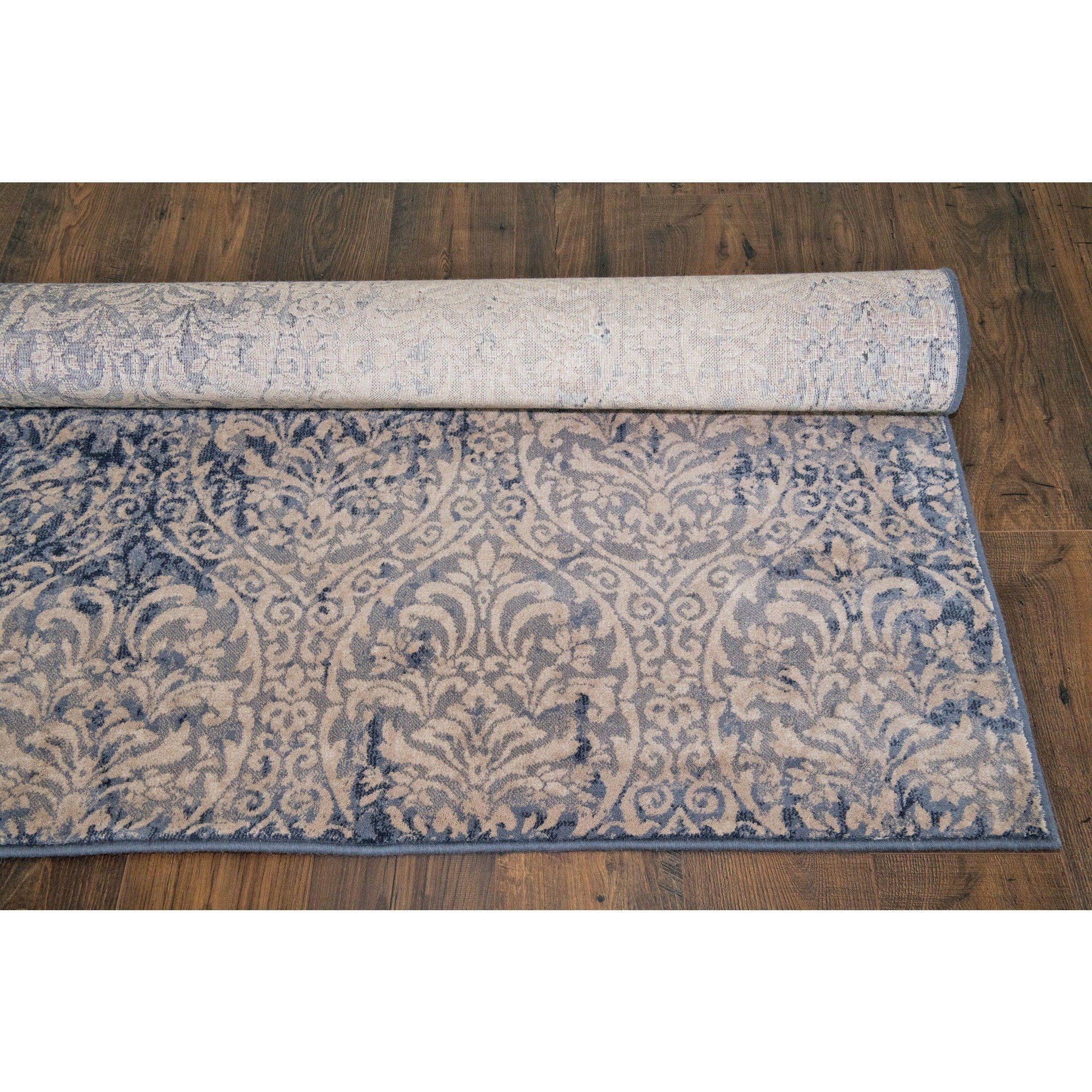 Details About Blue Modern Large Area Rugs 5x8 Carpet Contemporary Design Rug Soft Red Cream