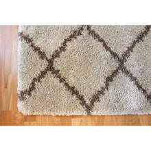 Oakland Shaggy Rug - Grain Brown - movaloom