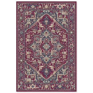 Red Oriental Wool Area Rug - movaloom