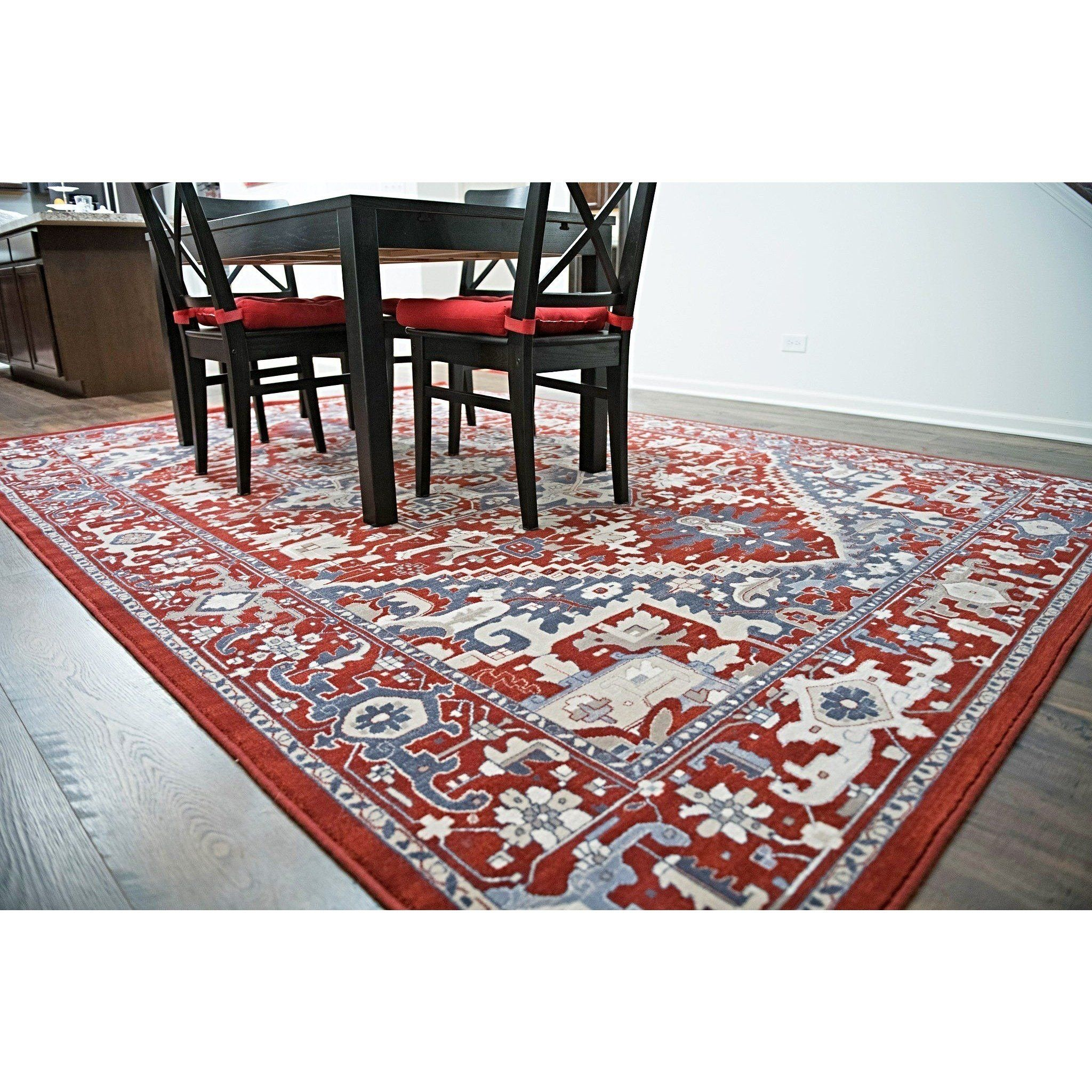 Traditional oriental wool area rug 5x8 natural persian