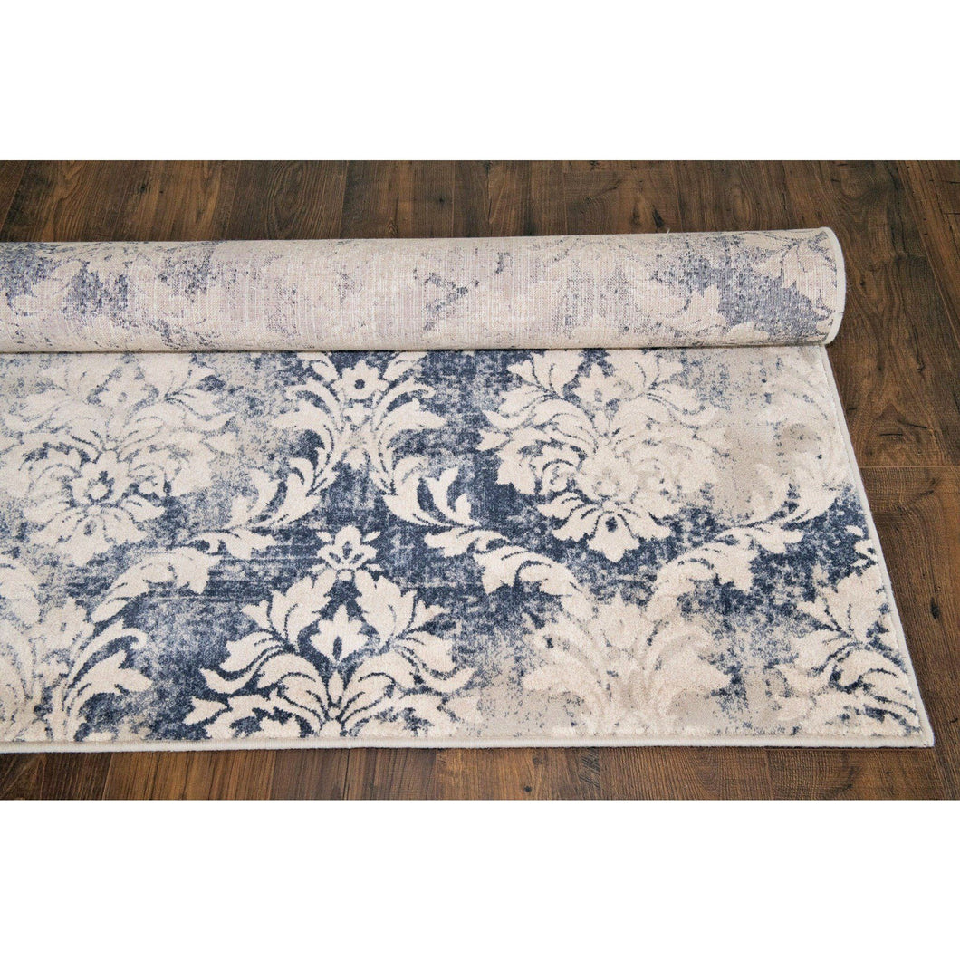 Vintage Flower Modern Abstract Area Rug - movaloom