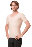 Male Compression Vest with Short Sleeves and Centre Zipper - Compression Vest - Isavela - statina.com.au