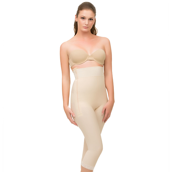 Girdle with Zippers Below Knee Compression Garment