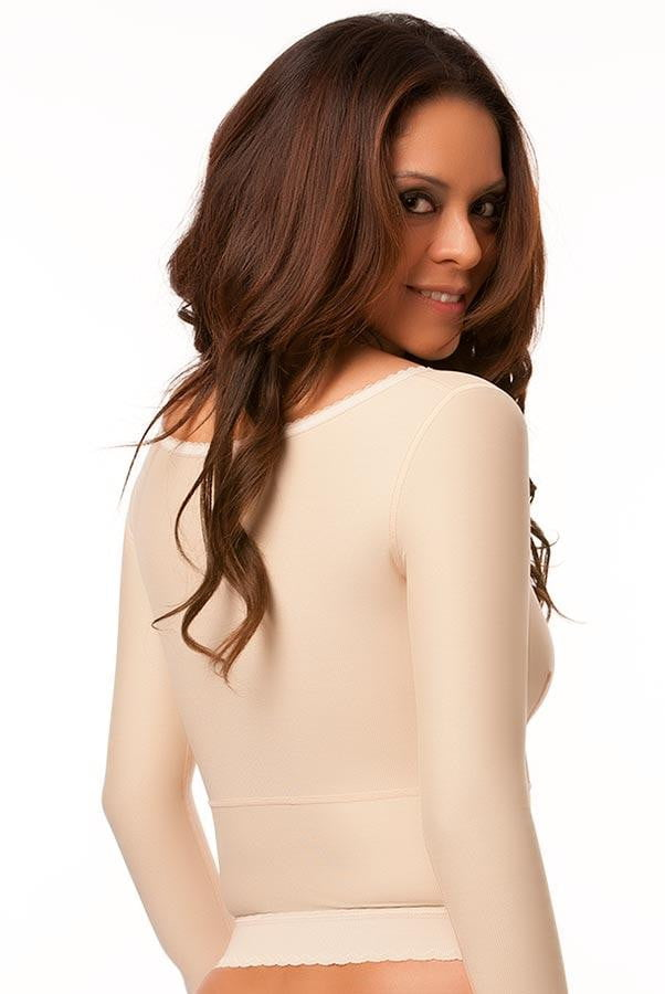 Long (Waist Length) Compression Vest/Bra (Bolero) - Long Sleeves