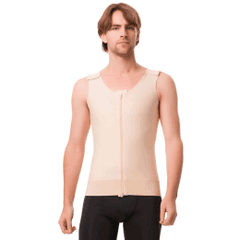 Male Compression Vest/Tank With Centre Zipper - Compression Vest - Isavela - statina.com.au