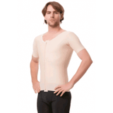 Male Compression Vest with Short Sleeves and Centre Zipper