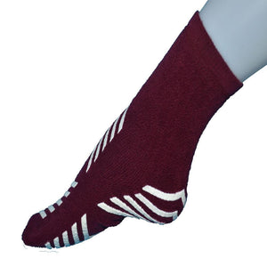 Safesox Premium Slip Resistant Socks - Large - Burgundy