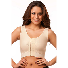Sleeveless Compression Vest/Bra with Center Hook & Eye
