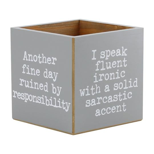 Snarky Sayings Container