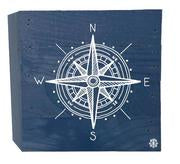 Blue Compass Wood Box