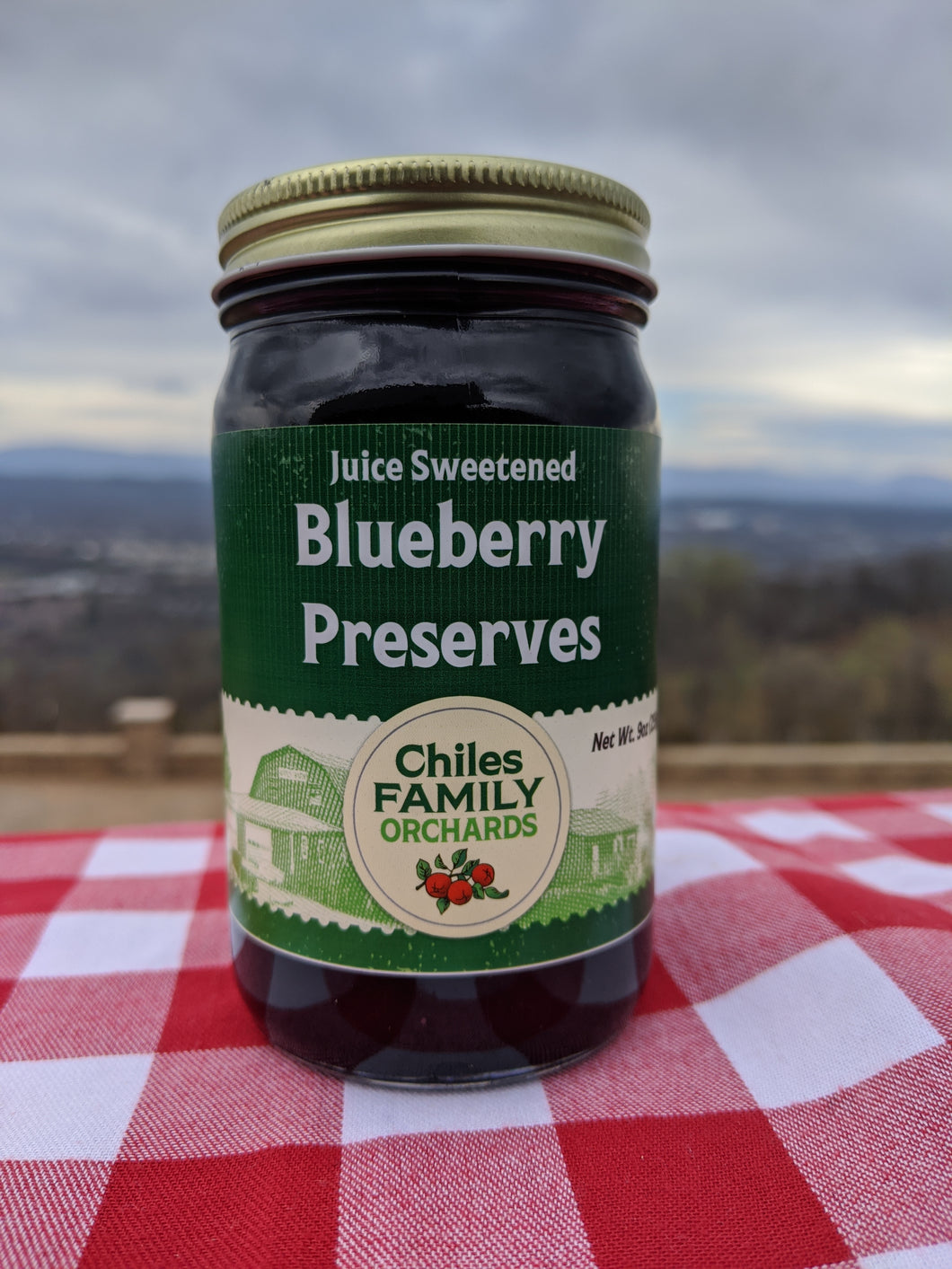 Juice Sweetened Blueberry Preserves