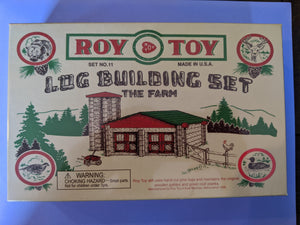 Roy Toy Log Building Set- The Farm