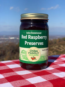 Juice Sweetened Red Raspberry Preserves