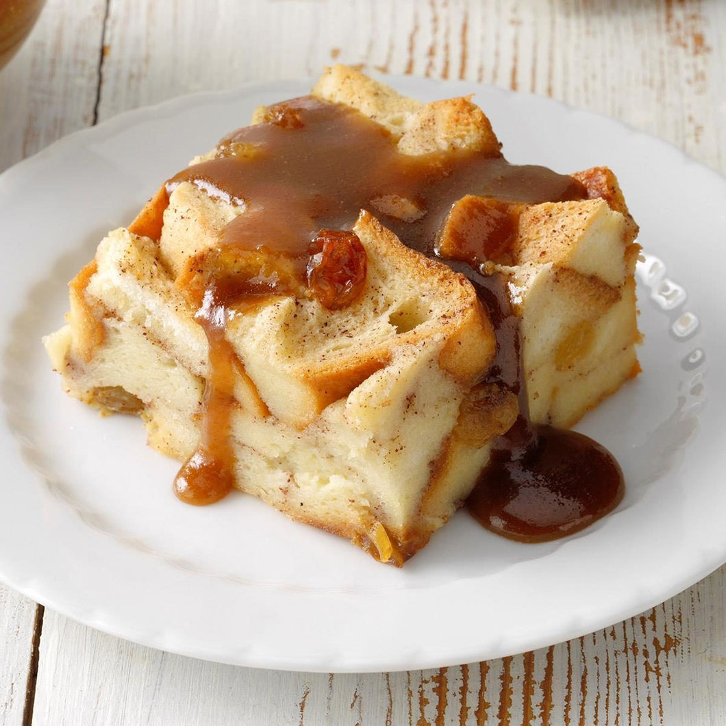 Apple Cider Donut Bread Pudding