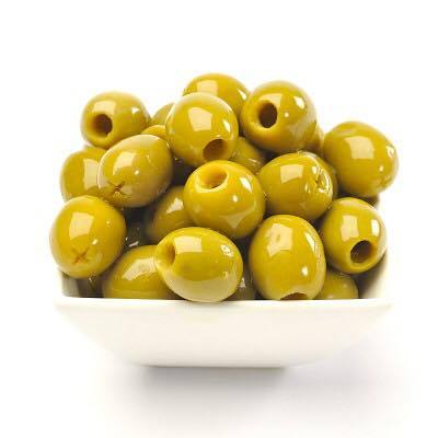 Green pitted Halkidiki olives - Mediterranean Gourmet Company
