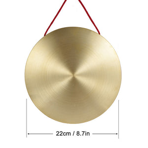 15cm Hand Gong Cymbals Brass Copper Chapel Professional Opera Percussion Instruments with Round Play Hammer
