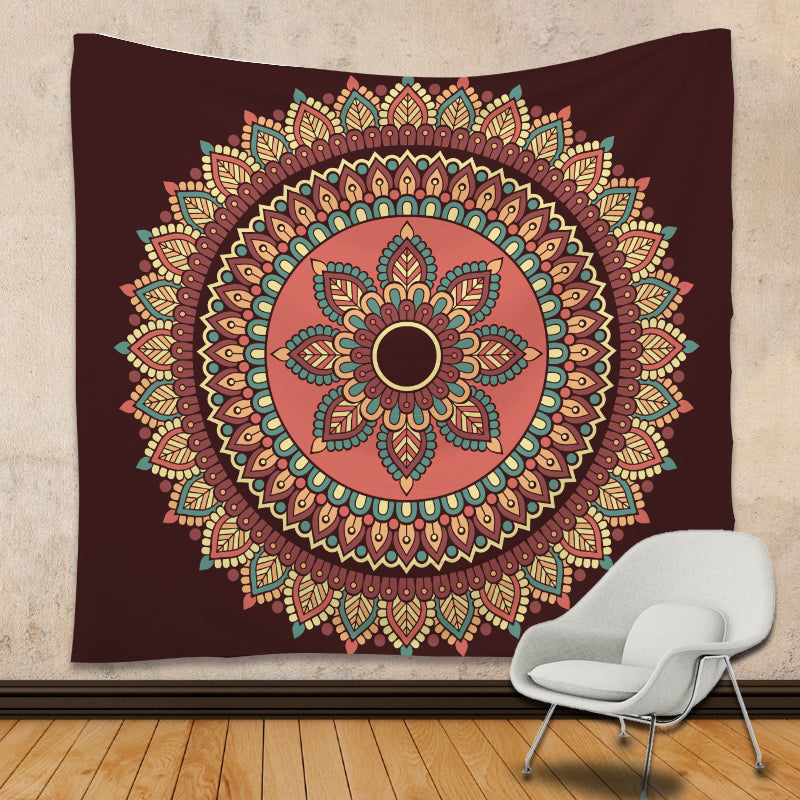 Mandala tapestry Colored Printed home Decorative Bohemian Tapestry Indian bed cover 130cmx150cm 172x230cm Boho Wall Carpet