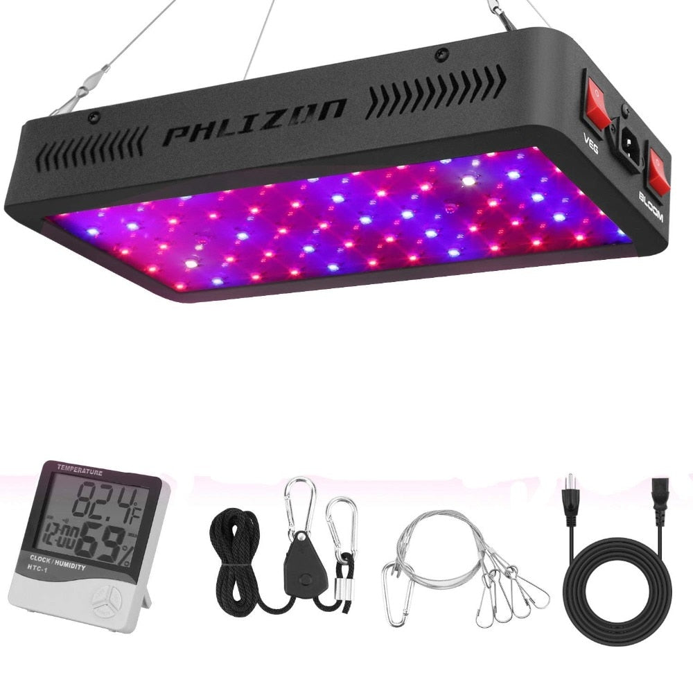 2019 New LED Grow Light 600W 900W 1200W for Veg and Bloom Full Spectrum for Indoor Plants All Phases of Plant Growth (10W Leds)