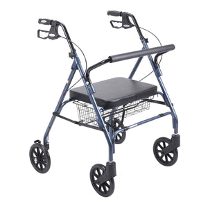 Heavy Duty Bariatric Rollator Rolling Walker with Large Padded Seat