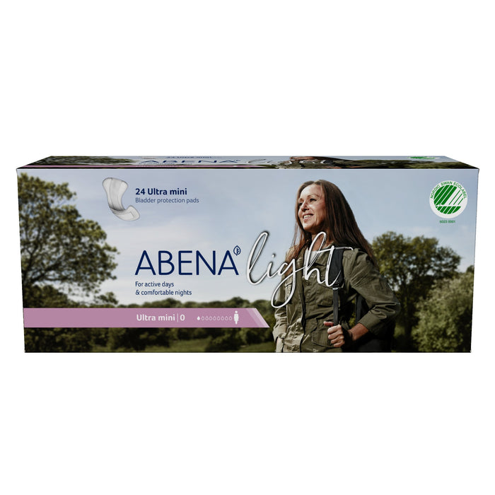 Pad, Liner Incont Abena Light Ultra Mini 0 (24/Bg 10Bg/Cs)