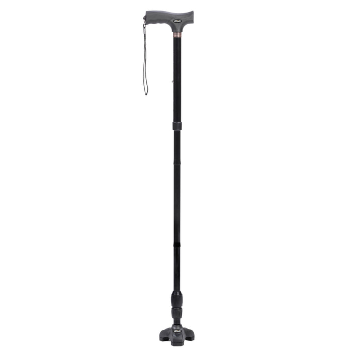 Flex N Go Adjustable Folding Cane with T Handle