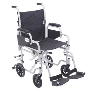 Poly Fly Light Weight Transport Chair Wheelchair with Swing away Footrests