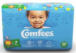 Comfees® Tab Closure Moderate Absorbency Diaper