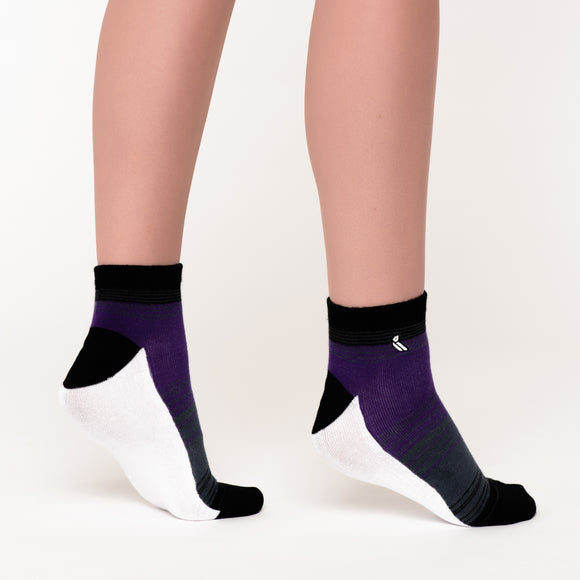 Purple Stripe Ankle Socks