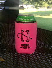 2-Pack Hobo Neon Pink Can Koozie