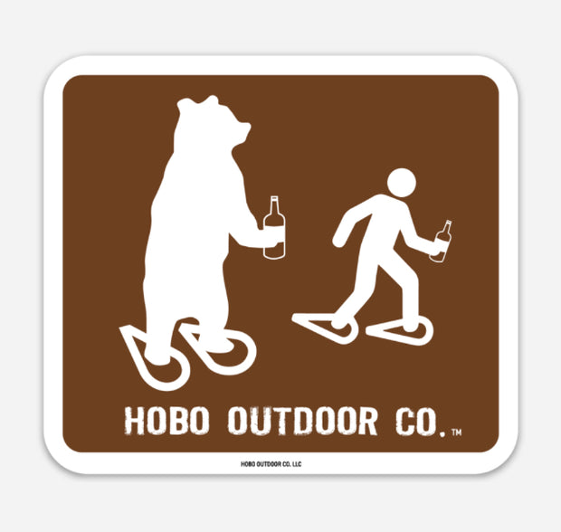 Hobo Outdoor Co. park sign sticker