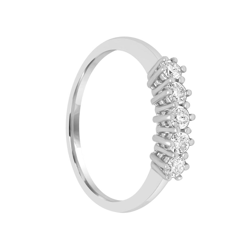 Veretta white gold ring 18ct 750 with Diamonds 0,27ct G VVS