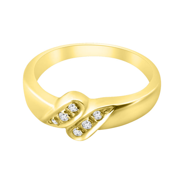 18 kt 750 yellow gold women's ring and diamonds