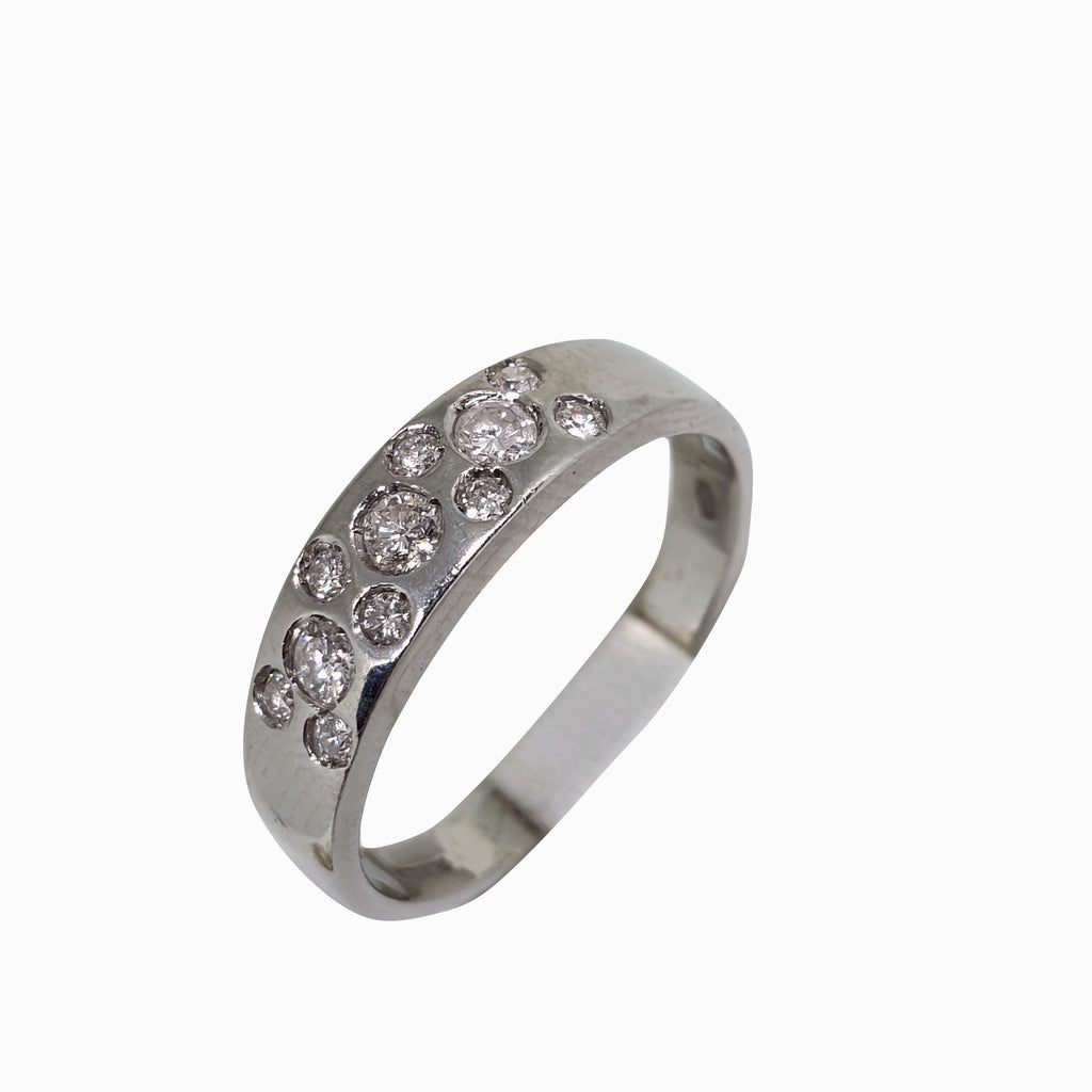 Anello Donna Oro Bianco 18kt 750  Diamanti 0.25CT F G VVS