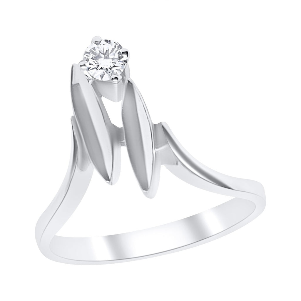 solitaire woman ring 18kt white gold 750 with diamond
