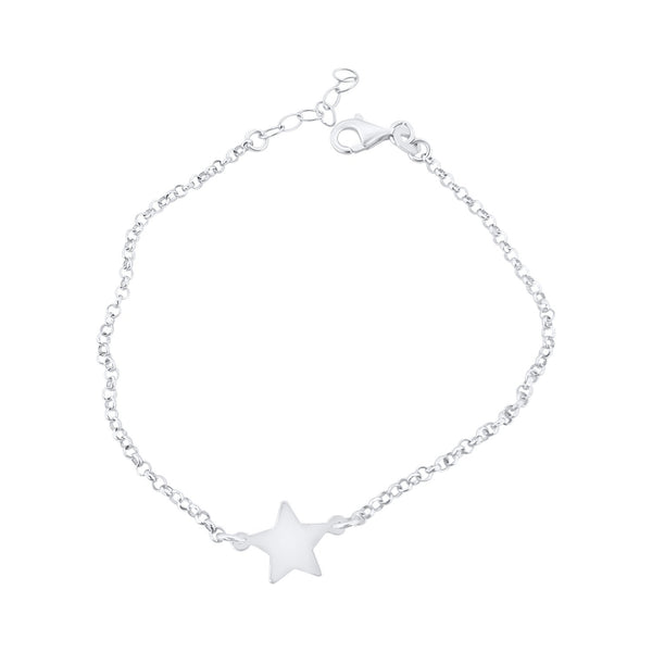 925 sterling silver star woman girl bracelet