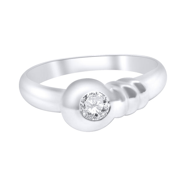 solitaire woman engagement ring 18kt white gold diamond 0,10ct gh vs