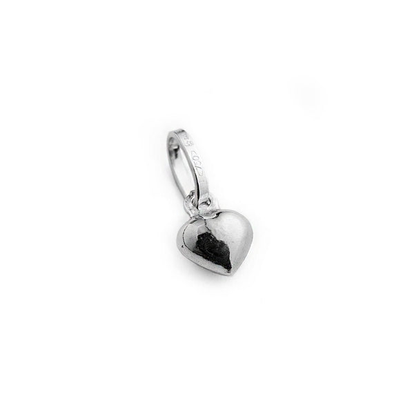 Woman heart pendant in 18kt white gold 750/000 - The heart in gold to give away!