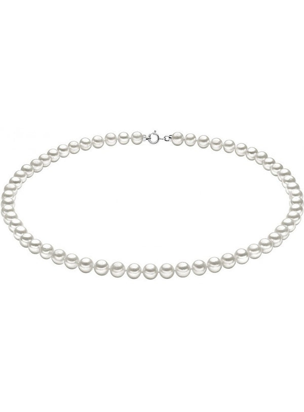 Woman thread bracelet of freshwater cultured pearls 4 mm white gold 18kt 750