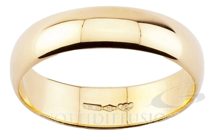 Wedding Ring DIANA Mantovana 5 grams Large 5mm Yellow gold 18ct 750 - LUPPINO GIOIELLI SRLS