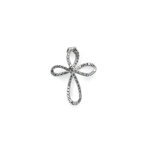 cross pendant white gold and diamonds woman
