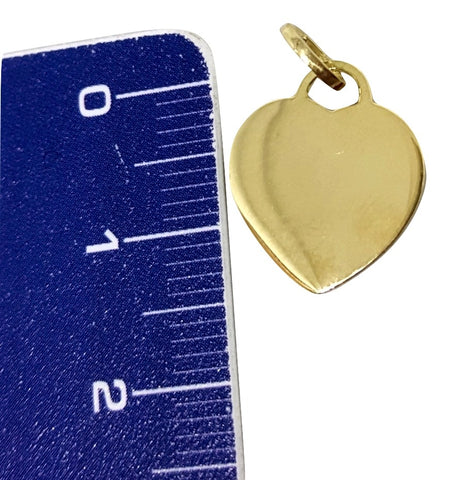Heart Pendant in Yellow Gold 18kt 750 / 000 - Free Engraving - LUPPINO GIOIELLI SRLS