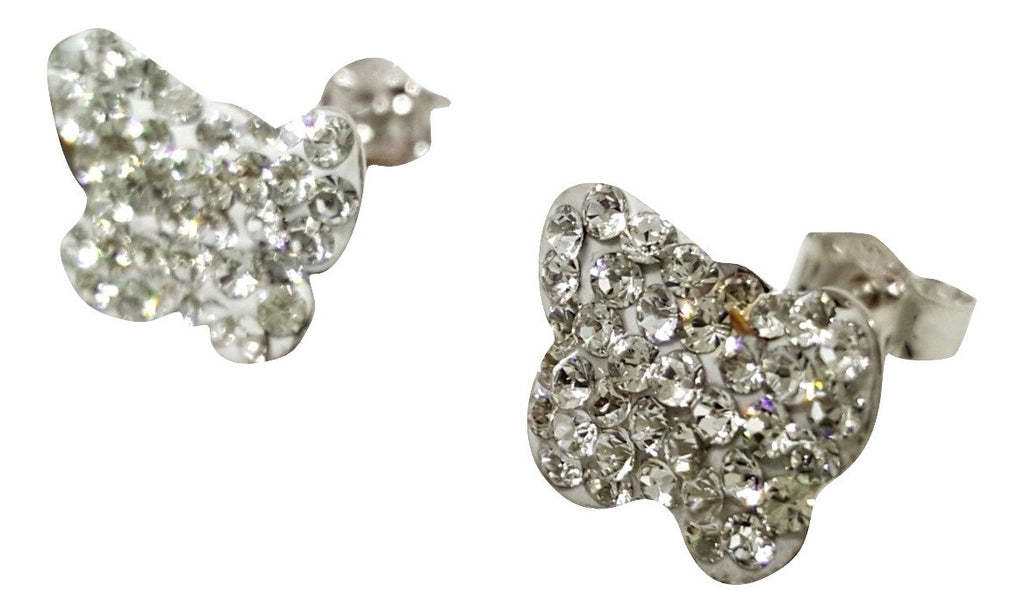 White gold BUTTERFLY Earrings 18 kt - 750 / 000 with Cubic Zirconia - LUPPINO GIOIELLI SRLS
