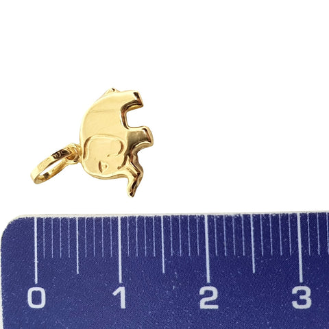 Elephant pendant in yellow gold 18kt 750 / 000 - LUPPINO GIOIELLI SRLS