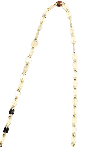 Yellow Gold Leaf Necklace Chain 18kt 750 / 000 - LUPPINO GIOIELLI SRLS