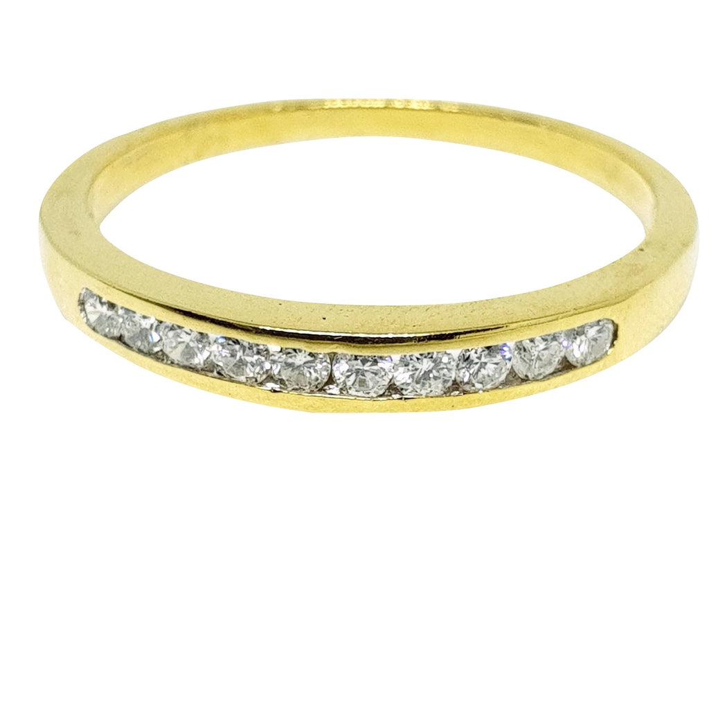 Veretta Yellow Gold Ring 18ct 750 with Diamonds 0,30ct G VVS - LUPPINO GIOIELLI SRLS