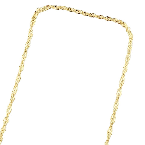 Singapore Yellow Gold Chain Necklace 18kt 750 / 000 1mm - LUPPINO GIOIELLI SRLS