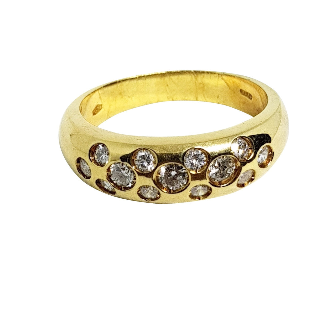Wide Band Ring in Gelbgold 18ct 750 mit Diamanten 0,40ct F VVS - LUPPINO GIOIELLI SRL